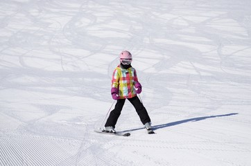 petite skieuse