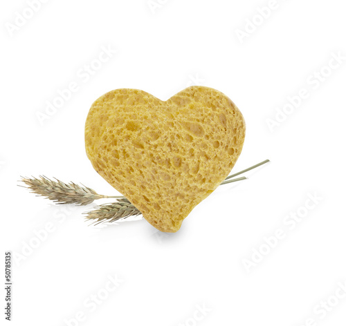 heart from a slice of bread(path)