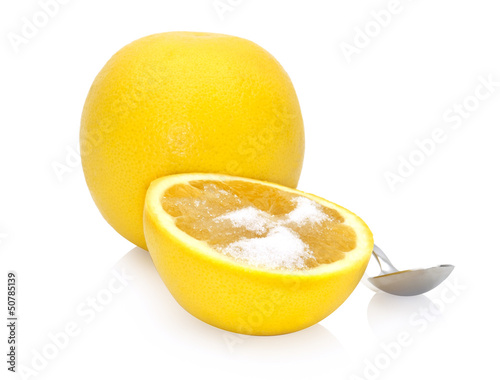 grapefruit with sweetener