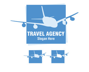 travel logo, travel agency, plane, airplane,aircraft