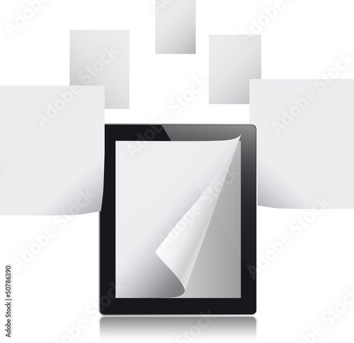 Tablet computer with blank pages