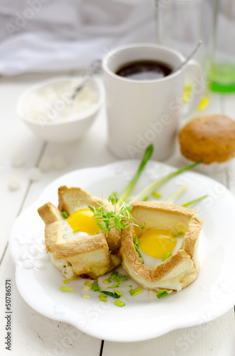 Breakfast: Tea And Toasted Eggs With Ramson