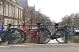 bicycles on bridge