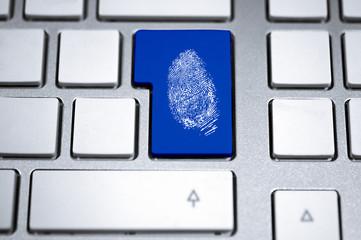Tastatur mit Fingerabdruck