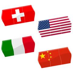Preisschilder SW + USA + IT + CH