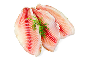 Fillets tilapia with dill