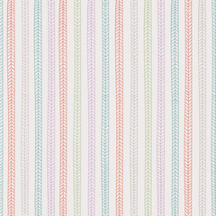 Vector endless seamless pattern with repeating stylized colorful