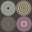 optical illusion elements vector collection