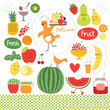 healthy eating, fruits, food illustrations collection