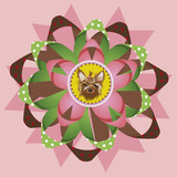 Beautiful yorkshire terrier award vector illustration