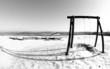 Winter landscae with swing