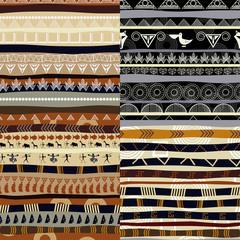Set of tribal primitive african pattern