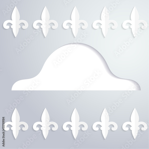Abstract background with a silhouette of cocked hat
