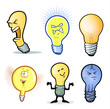Lightbulb Man/Collection of Various Light Bulb Characters