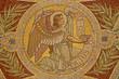 Madrid - Mosaic of angel as symbol of Saint Matthew