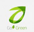 Green leaf nature concept