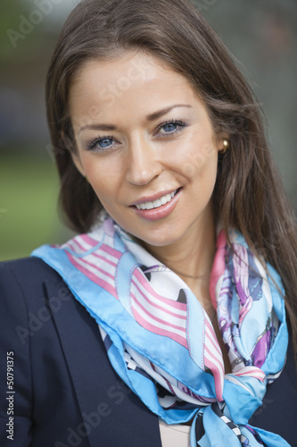 Portrait of a happy young businesswoman