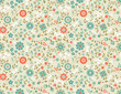 Seamless Floral Pattern. Retro  background with wild flowers.