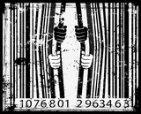 Bar code with prisoner hands
