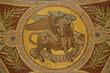 Madrid - Mosaic of bull as symbol of Saint Luke the Evangelist