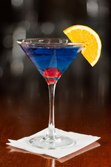 Electric blue lemonade martini