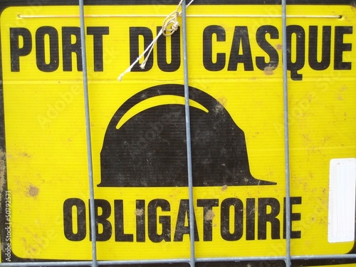 Port du casque obligatoire - Chantier
