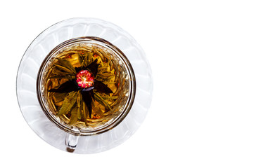 cup of black tea top view