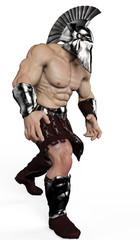 strong man pretorian walking