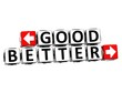3D Good Better Button Click Here Block Text