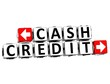 3D Cash Credit Button Click Here Block Text