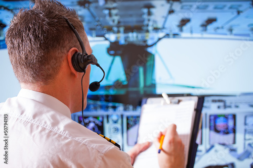 Leinwanddruck Bild Airline pilot