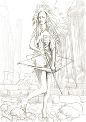 Greek myth and legends (Full sized hand drawing) - Amazon
