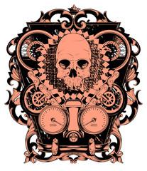 Skull and wheels