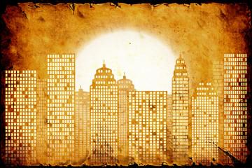Retroplakat - Blasse Skyline