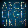 Shiny diamond alphabet letters