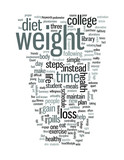 Steps to maintain weight during college poster