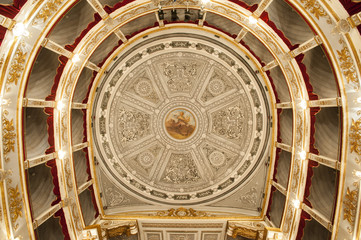 europe, italy, sicily, interior theater fo Noto
