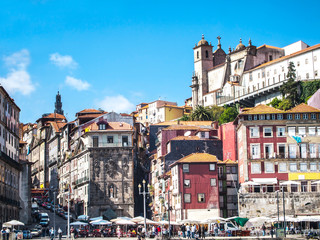 Old historical houses in Porto / Portugal