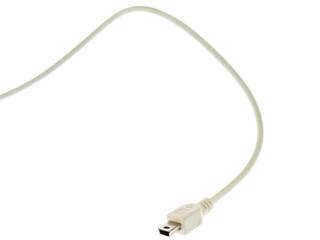 USB jack on a white background