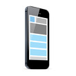 Responsive web design in black smart phone vector eps