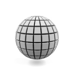 3d Sphere isolated on a white