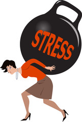 Woman dealing with stress