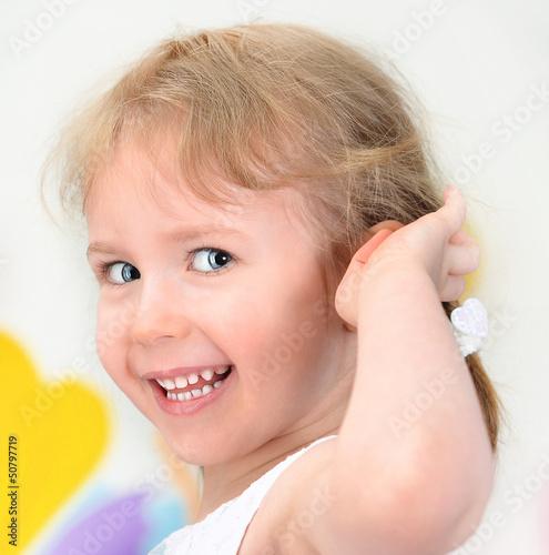 Smiling little girl portrait