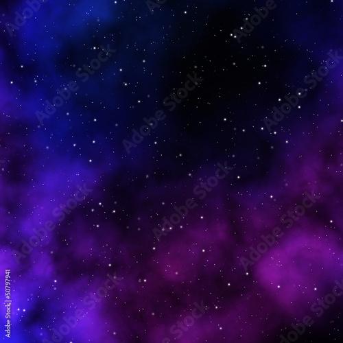 Weltraum mit Sterne und Nebel