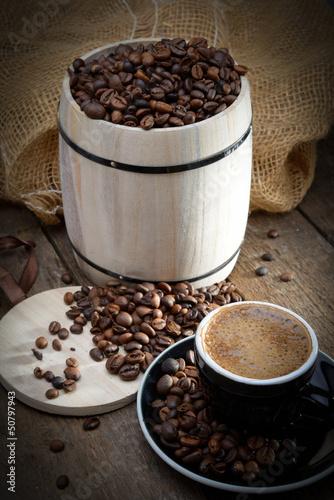 Organic kawowy z drewnianej beczki