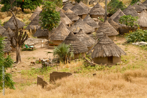 Leinwanddruck Bild Senegal Andyel Hut