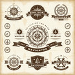 Vintage Nautical Labels Set