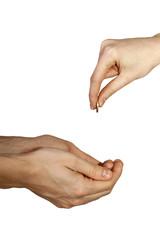 Hands gesture.