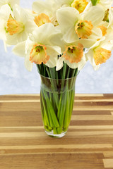 Daffodils in a vase.