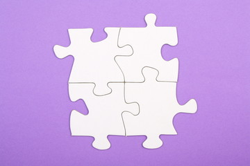 Four Connected Jigsaw Pieces